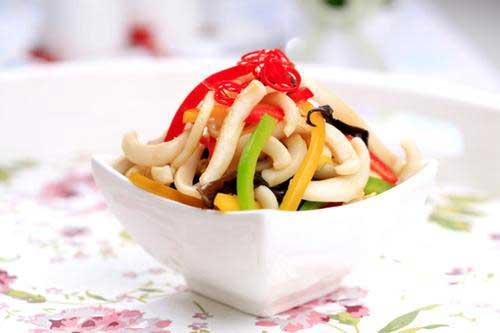 Салат из кальмаров креветок с болгарским перцем рецепт