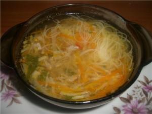 Суп из куриных сердечек  рецепт с фото